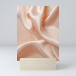 Nude Silk Texture Mini Art Print