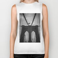 brooklyn bridge Biker Tanks featuring Brooklyn Bridge by Nicklas Gustafsson