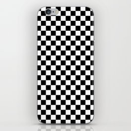 White and Black Checkerboard iPhone Skin