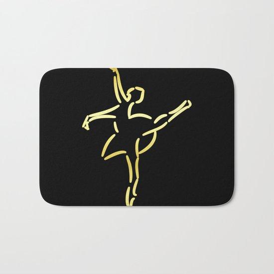 Golden ballerina Bath Mat