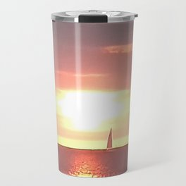 sailing into the sunrise Travel Mug