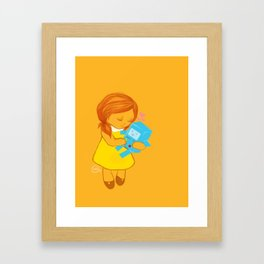 holly loves beemo  Framed Art Print