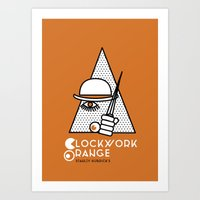 clockwork orange Art Prints featuring Clockwork orange by Cardula