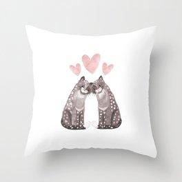 Big Cat Snuggles Throw Pillow