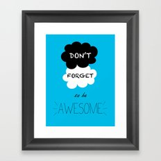DFTBA TFIOS Nerdfighter Vlogbrothers Don't Forget to be Awesome, The Fault in Our Stars, John Green Framed Art Print