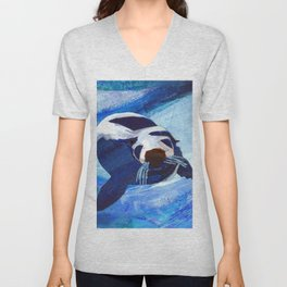 Swimming Seal Unisex V-Neck