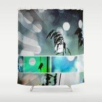 postcard Shower Curtains featuring Silver Grass Postcard Art by minx267