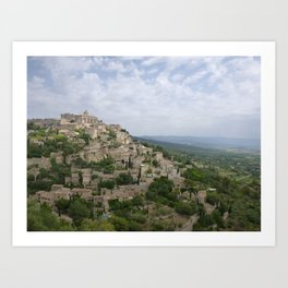 Hilltop village of Gordes Art Print