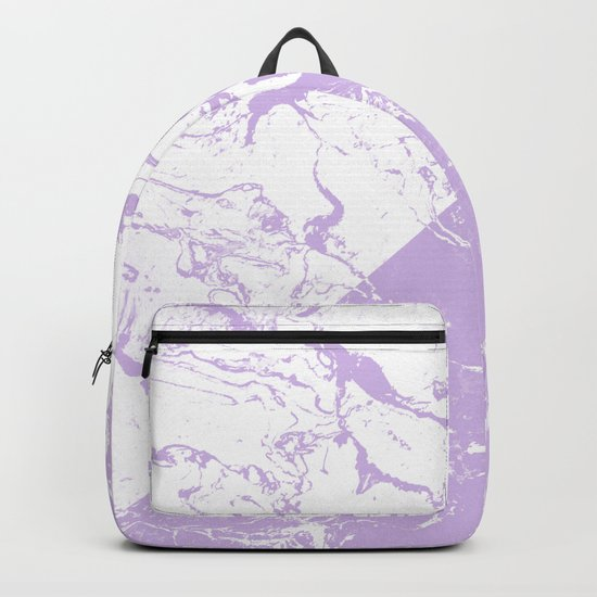 modern color block inverted white purple lavender marble pattern by girlytrend
