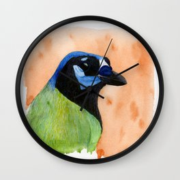 Green Jay Wall Clock