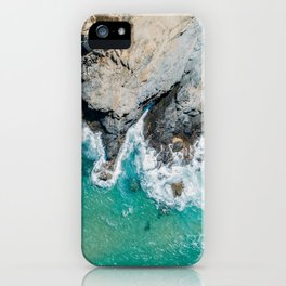 Ocean Waves Crushing, Drone Photography, Aerial Landscape Photo, Large Printable Photography, Ocean iPhone Case
