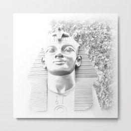 The Sphinx portrait Cleopatra's needle London UK Metal Print
