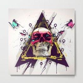 SKULL--ART Metal Print