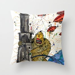 Honey Monster Throw Pillow