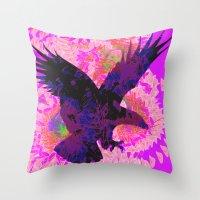 eagle Throw Pillows featuring eagle by giancarlo lunardon