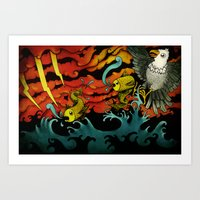 sushi Art Prints featuring Sushi by Juan Weiss