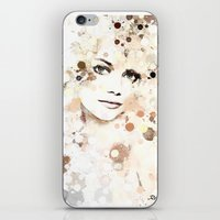 emma stone iPhone & iPod Skins featuring Emma Stone by Rene Alberto