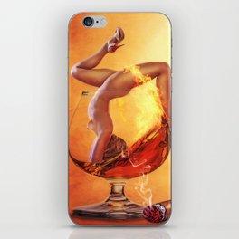 Girl in Glass iPhone Skin