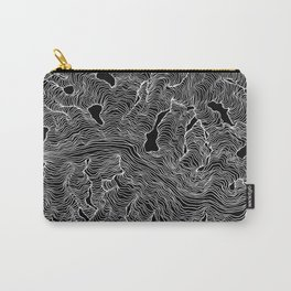 Inverted Enveloping Lines Carry-All Pouch