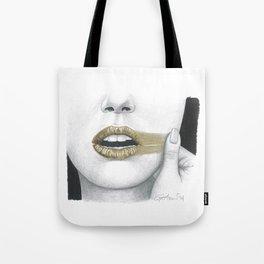 Dissenso / Dissent - Gold Lipstick  Tote Bag