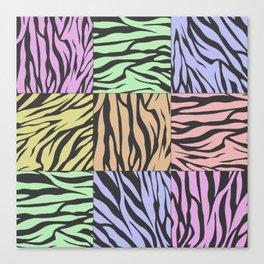 Pastel Zebra Stripes Canvas Print