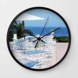 A Seat on a Hill in Jamaica Wall Clock