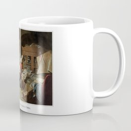 Lincoln Writing The Proclamation Of Freedom Coffee Mug