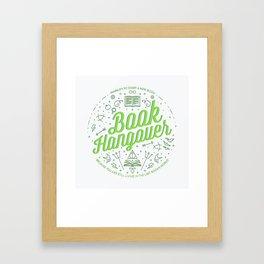 Book Hangover (Green) Framed Art Print