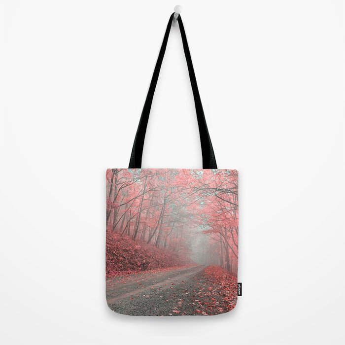 Misty Forest Road - Tickle Me Pink Tote Bag