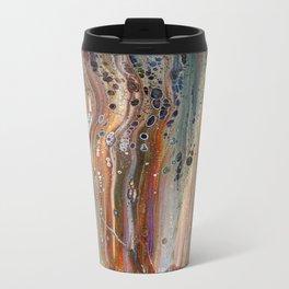 Fluid Acrylic IX - Abstract, original, acrylic pour painting Metal Travel Mug
