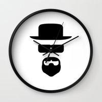 heisenberg Wall Clocks featuring Heisenberg by George Hatzis