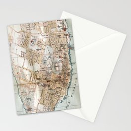 Vintage Map of Halifax Nova Scotia (1890) Stationery Cards