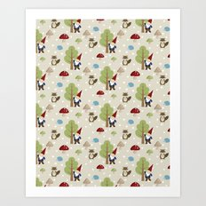 Woodland Forest Art Print