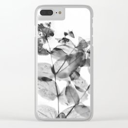 Ghostly Blooms Clear iPhone Case