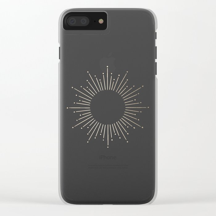 Simply Sunburst in White Gold Sands on White Clear iPhone Case