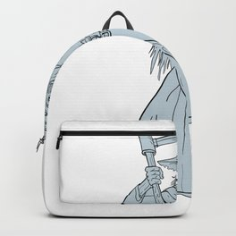 Ankou Henchman of Death With Scythe Drawing Backpack