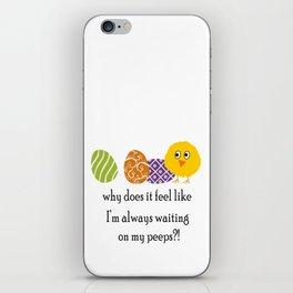 Waiting on Peeps on Easter iPhone Skin