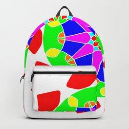 Mandala in vibrant colors Backpack