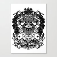 all seeing eye Canvas Prints featuring All seeing eye by Tshirt-Factory