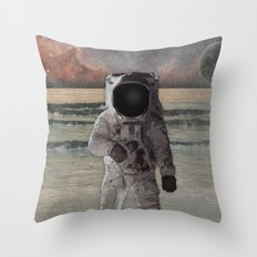 Astronaut Space Mission Throw Pillow