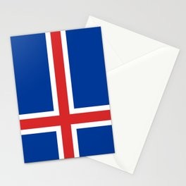 National flag of Iceland Stationery Cards