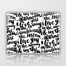 I love you in the morning Laptop & iPad Skin
