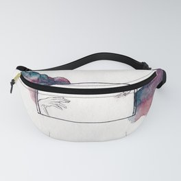 Reaching Hands and Mountains Fanny Pack