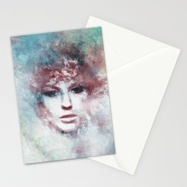 Girl face painting ART Stationery Cards