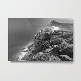 Cliffs along Cape Point, South Africa Metal Print