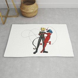 Ladybug and Chat Noir by Studinano Rug