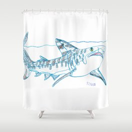 Tiger Shark II Shower Curtain