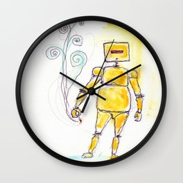 Yellow Wants To Go Out Like A Blister In The Sun Wall Clock
