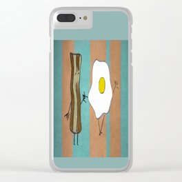 Bacon & Egg Togetherness Clear iPhone Case