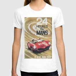 1963 Le Mans poster, Race poster, car poster, garage poster T-shirt